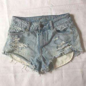 AE 00 Shorts cutoffs  Distressed booty fray